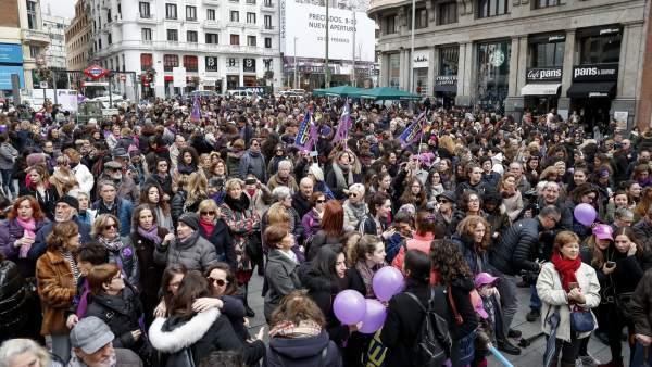 Marcha del 8 de marzo en barcelona